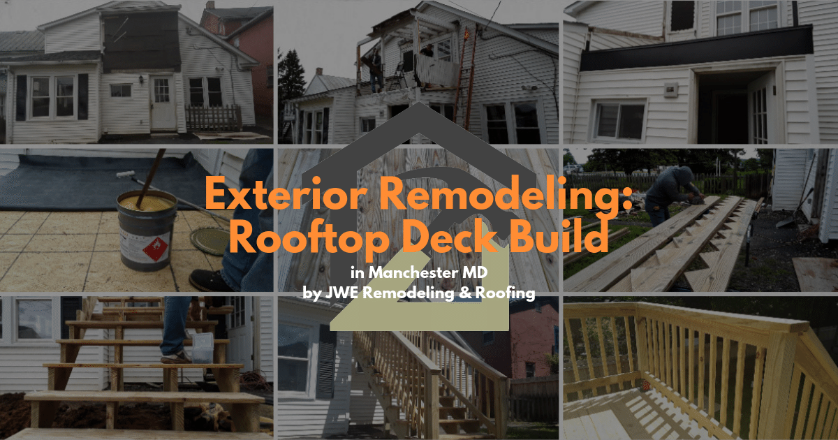 Exterior remodeling project by JWE in Manchester MD