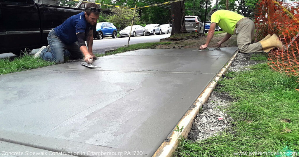 Concrete Forming by Hanover PA JWE Remodeling & Roofing: Contractor in Chambersburg PA 17201