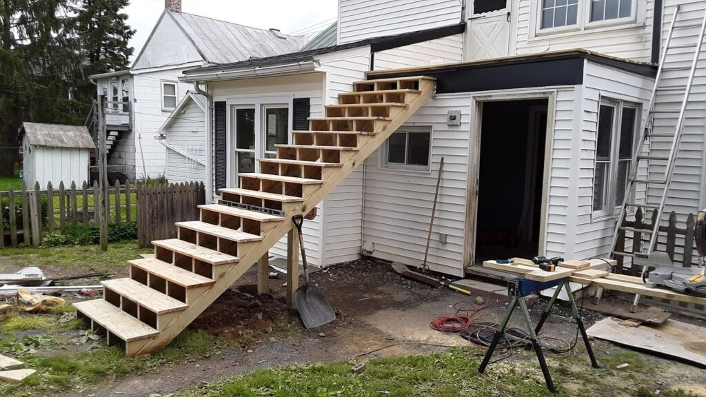 Grand Stair-Case construction completed in Manchester MD 21088 remodel