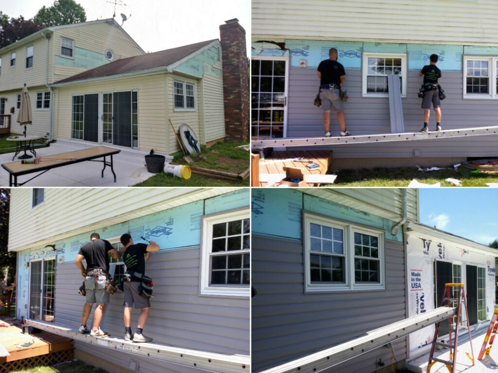 Siding Contractor JWE installing vinyl siding dutchlap in Carroll County's Finksburg MD 21048