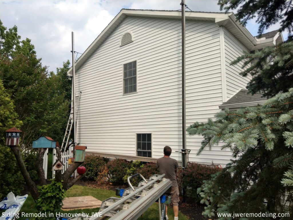 Siding Remodel Installation in Hanover PA 17331 by quality contractor JWE Remodeling and Roofing Adams County PA