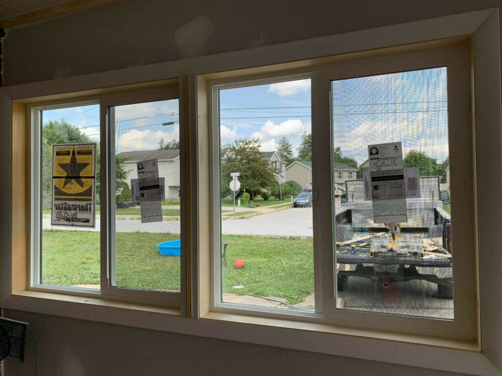 New sliding glass energy-rated windows installed in Hanover PA by JWE