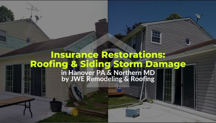 Roofing and Siding storm damage restoration services by JWE Remodeling and Roofing Contractors