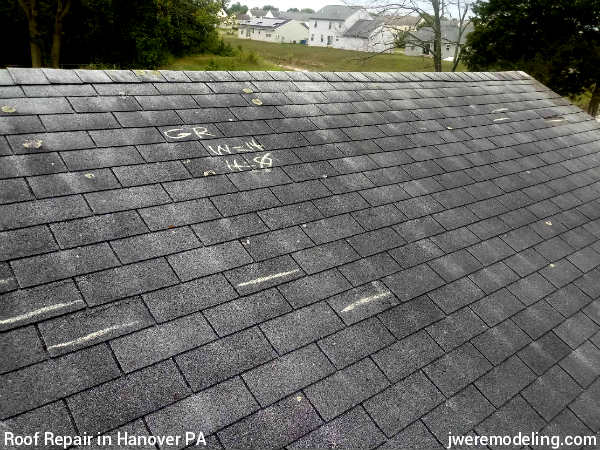 We find all damage to roofing shingles like blown-off shingles and damaged shingles in order to execute efficient roof repairs in Hanover PA