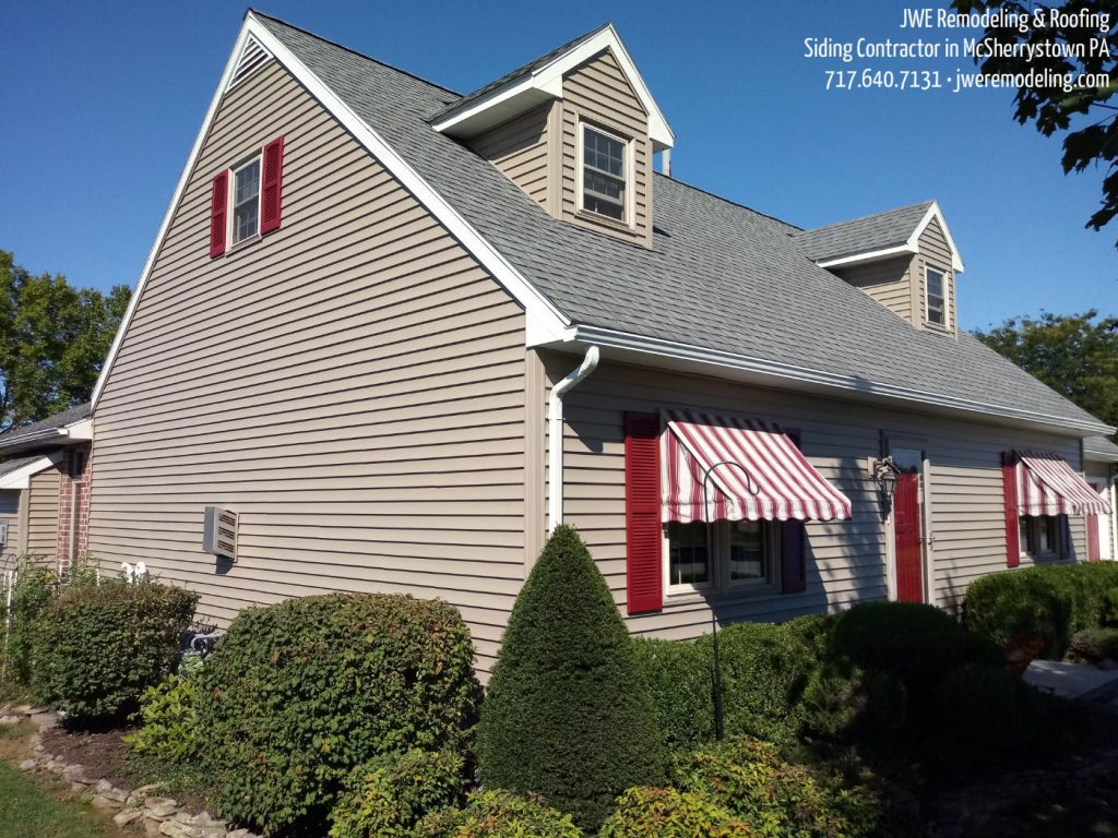 Siding Contractor in McSherrystown PA 17344 JWE Remodeling: Fascia, Gutters, Soffit, New Shutters & More by JWE Remodeling and Roofing contractor in Adams County Pennsylvania