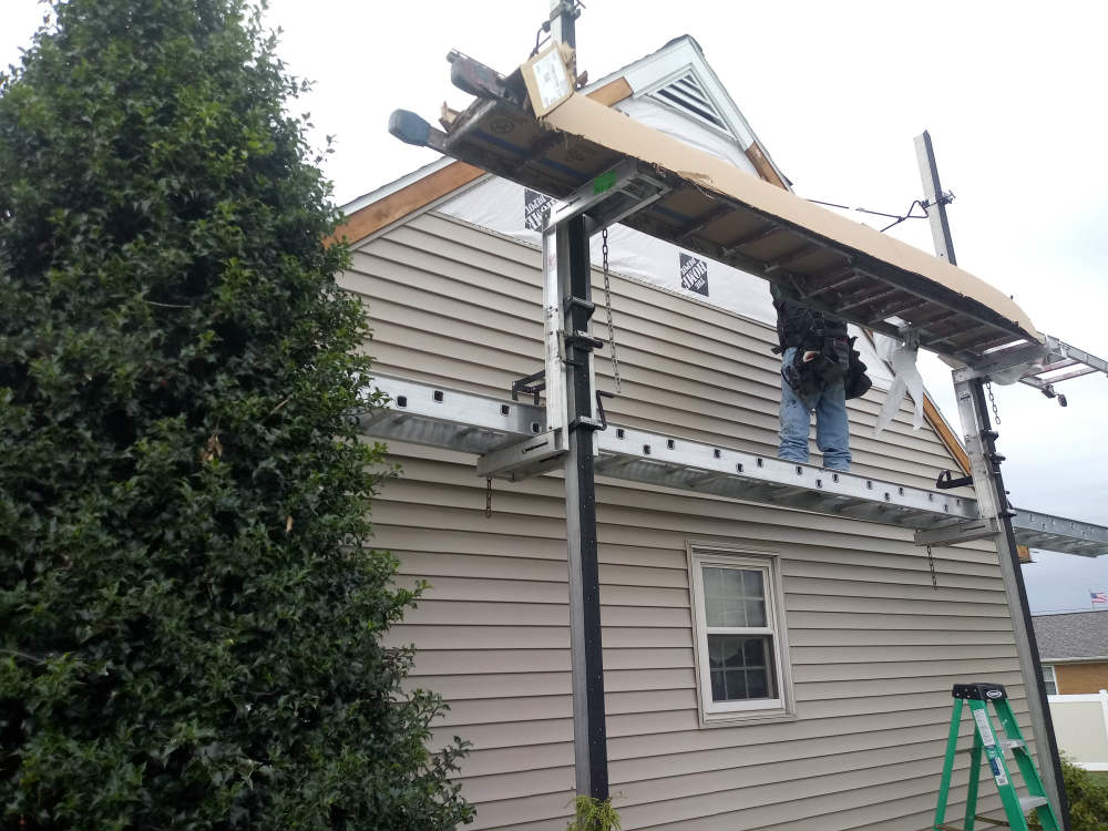 Siding installation by JWE in McSherrystown Hanover PA with new fascia and rake metal