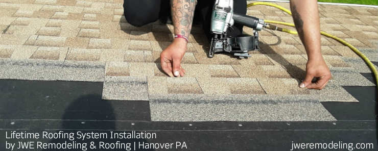 New Asphalt Shingle Roof Installation in Progress, by Hanover PA Roofing Contractor JWE