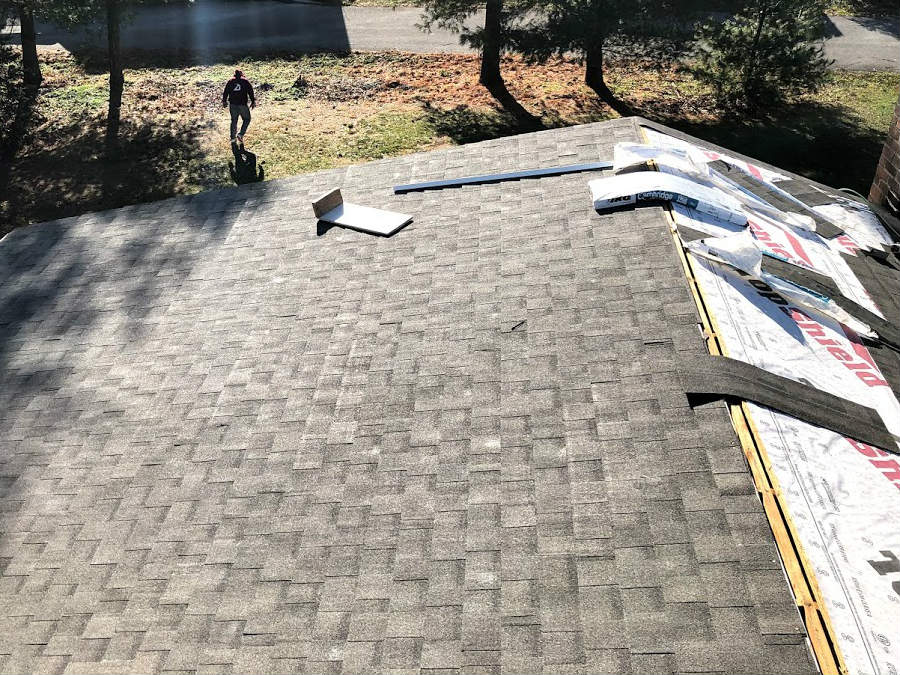 After the shingles are installed, its time to install the ridge vent and ridge cap on this Gettysburg PA roof replacement by JWE