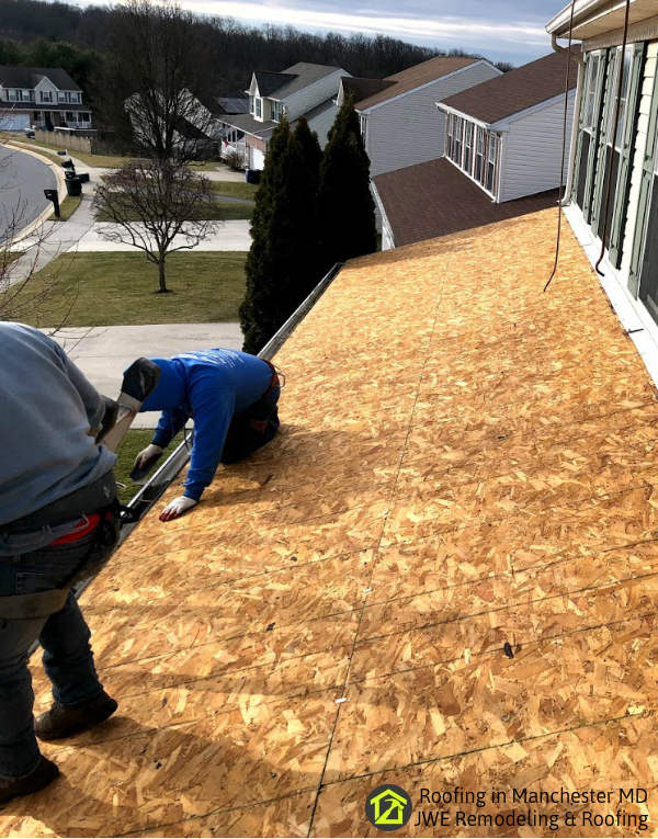 Roofing in Manchester Maryland by JWE Roofing Contractors Carroll County roof replacements