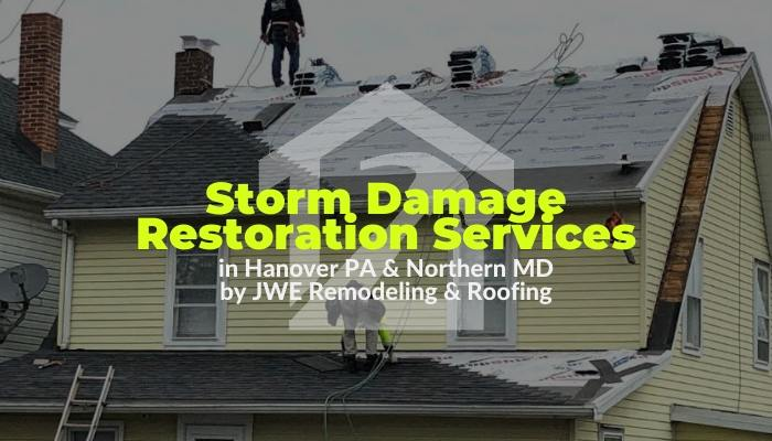 Storm Damage restoration services in Hanover PA for wind and hail damage siding roofing and exterior