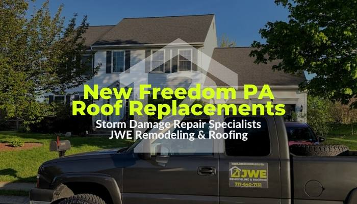 New Freedom PA Roofing Contractor JWE offers roof replacements and roof repairs in New Freedom PA