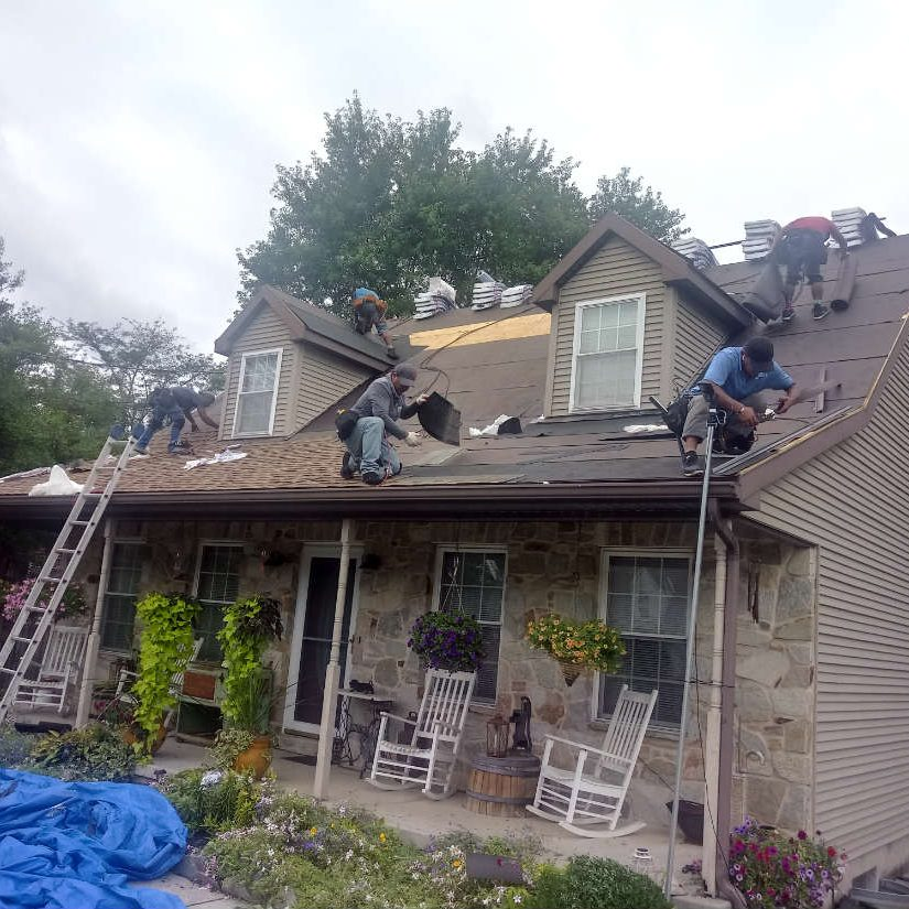 Roof Damage Repairs for Hail and Storm Damage in Hanover PA 17331 by JWE Remodeling and Roofing