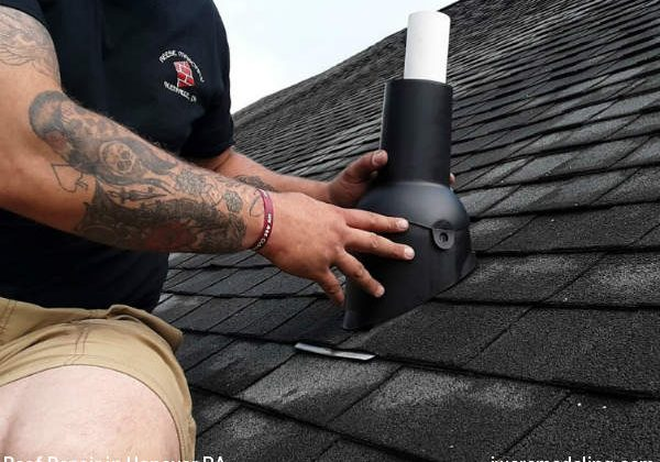 Pipe vent roof repair in Hanover PA by JWE Remodeling and Roofing Contractors
