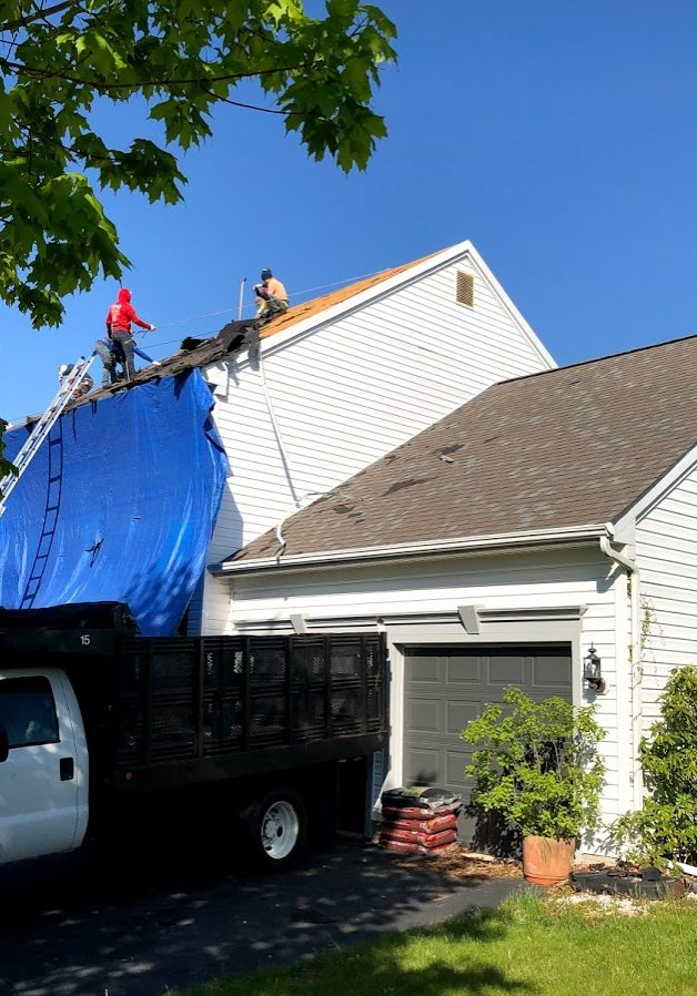 Roof repair and replacement in New Freedom & Stewartstown PA, York County, by JWE Roofing Contractors