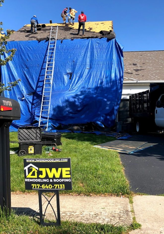 Roof replacement service in New Freedom PA 17349 by JWE Remodeling & Roofing
