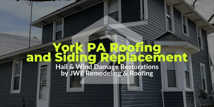 Roofing in York PA by JWE: Storm Damage roof and siding replacement by JWE Restoration Roofing Contractor