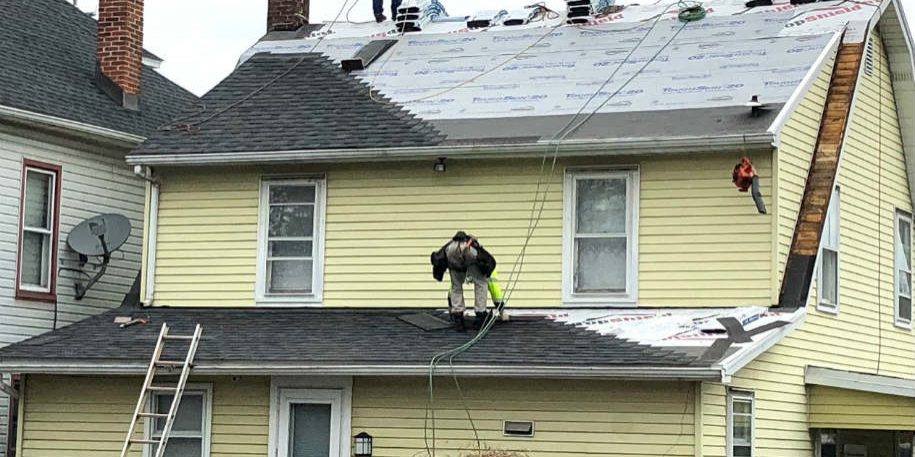 Storm Damage roof replacement service in Hanover PA by JWE Remodeling & Roofing Contractors